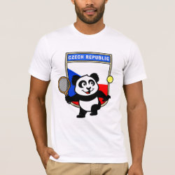 Men's Basic American Apparel T-Shirt with Czech Tennis Panda design