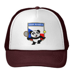 Trucker Hat with Czech Tennis Panda design