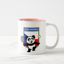 Two-Tone Mug with Czech Tennis Panda design
