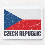 Czech Republic Vintage Flag Mousepads