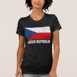 Czech Republic Vintage Flag Shirt