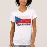 Czech Republic Vintage Flag T Shirt