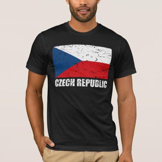 Czech Republic Vintage Flag T-Shirt