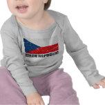Czech Republic Vintage Flag T Shirts