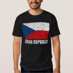 Czech Republic Vintage Flag Tee Shirt