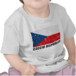 Czech Republic Vintage Flag Tee Shirts