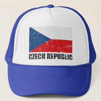 Czech Republic Vintage Flag Trucker Hat