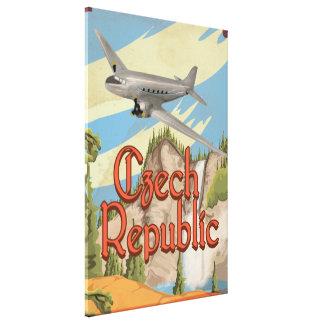 Czech Republic Vintage Travel Poster Canvas Print