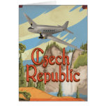 Czech Republic Vintage Travel Poster Card