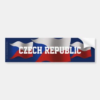 Czech Republic Waving Flag Bumper Sticker