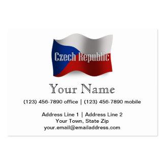 Czech Republic Waving Flag Business Card Templates