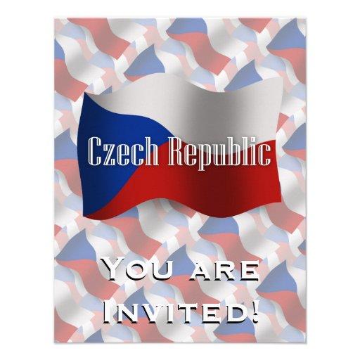 Czech Republic Waving Flag Personalized Invites