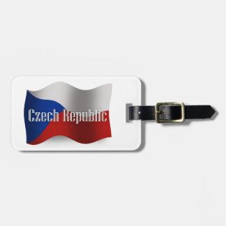 Czech Republic Waving Flag Bag Tags