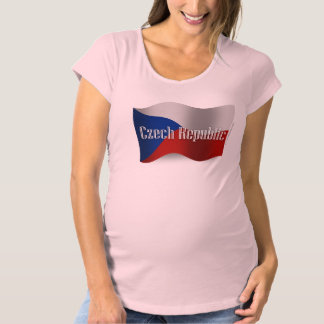 Czech Republic Waving Flag Maternity T-Shirt
