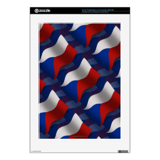 Czech Republic Waving Flag PS3 Decal
