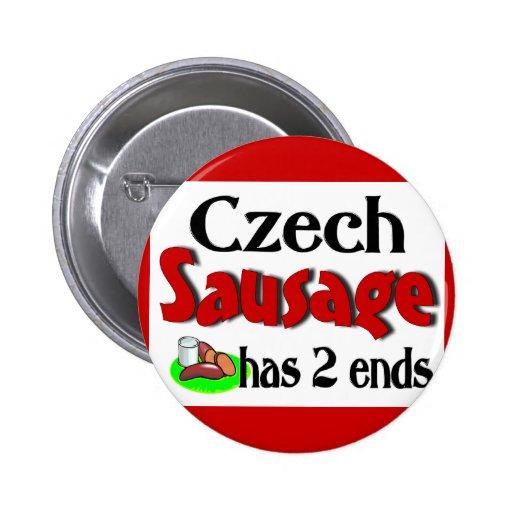 Czech Sausage Has 2 Ends Buttons