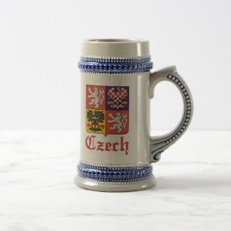 Czech Seal / Czechoslovakia Flag Beer Stein