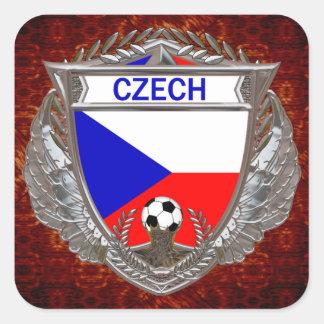 Czech Soccer Team Square Sticker