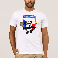Czech Tennis Panda Men's Basic American Apparel T-Shirt