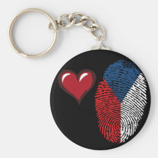 Czech touch fingerprint flag keychain