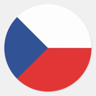 Czechia Fisheye Flag Sticker