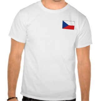 Czechia Flag and Map T-Shirt