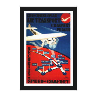 Czechoslovak Air Transport - M Canvas Print