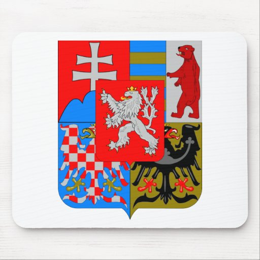 Czechoslovakia Coat of Arms (1918-1939) Mousepad