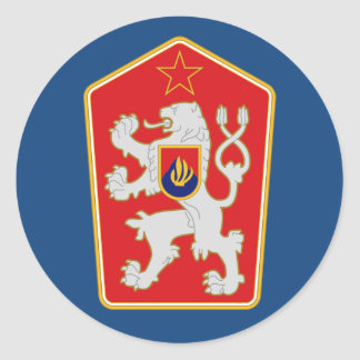 Czechoslovakia - Coat Of Arms (1960–1990) Sticker. Classic Round Sticker
