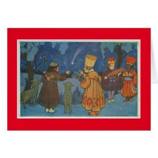 CZECHOSLOVAKIAN CHRISTMAS FOLK ART CARD