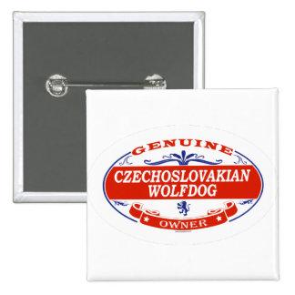 Czechoslovakian Wolfdog  2 Inch Square Button