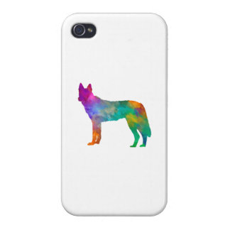 Czechoslovakian Wolfdog in watercolor iPhone 4 Cover