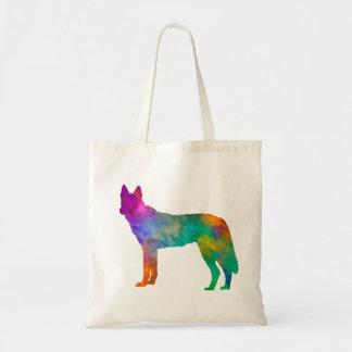 Czechoslovakian Wolfdog in watercolor Tote Bag