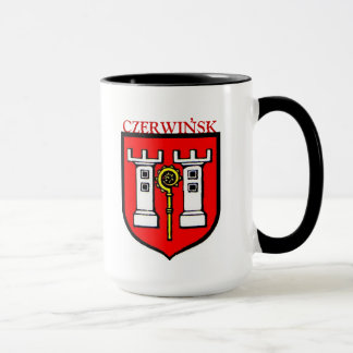 CZERWINSK FAMILY CREST ON COFFEE MUG