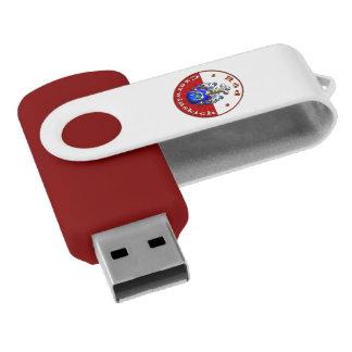 Czerwińskch Family Crest Swivel USB Drive Swivel USB 2.0 Flash Drive