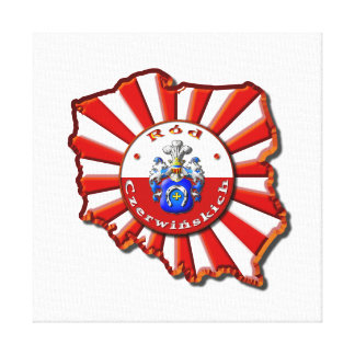 Czerwińskich Family Crest Gallery Wrap Canvas