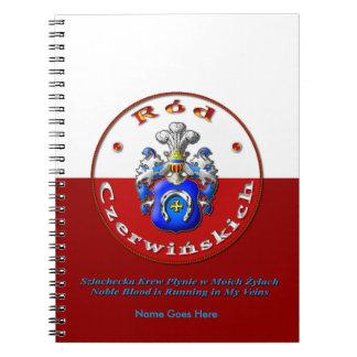Czerwińskich Family Crest Note Books