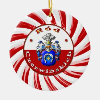 Czerwińskich Family Crest Round Ornaament Ceramic Ornament