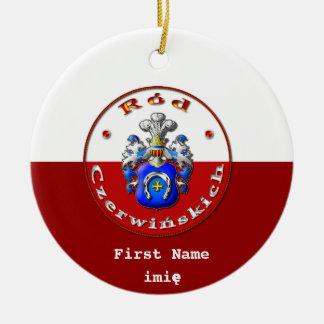 Czerwińskich Family Crest Round Ornament