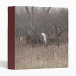 D0001 White-tailed Deer Vinyl Binder
