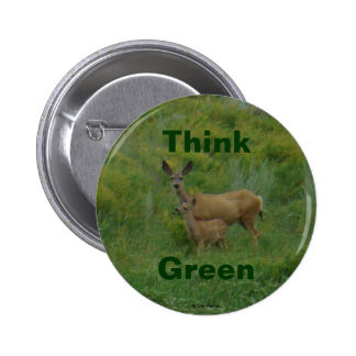 D0005 Mule Deer Doe and Fawn button
