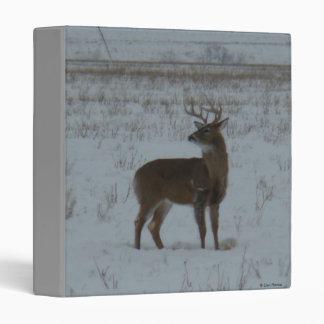 D0011 White-tailed Deer in Snow Binder