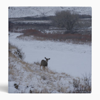 D0016 Mule Deer Doe in River Valley 3 Ring Binder