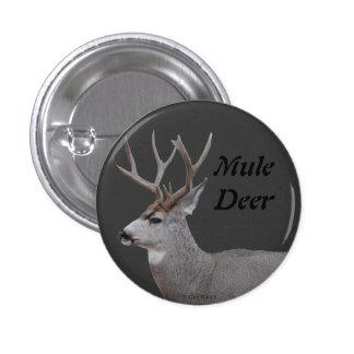 D0026 Mule Deer Buck Head and Shoulders Pinback Button