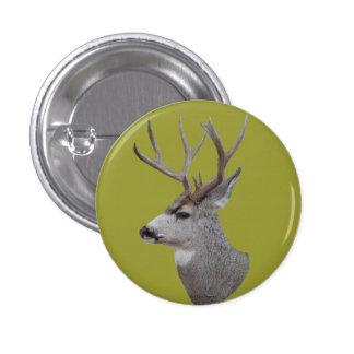 D0027 Mule Deer Buck Head Button
