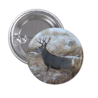 D0028 Mule Deer Buck Running Button