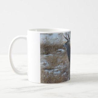 D0028 Mule Deer Buck Running Coffee Mug