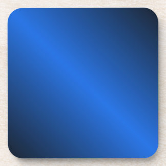 D1 Bi-Linear Gradient - Black and Blue Beverage Coaster