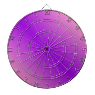 D1 Bi-Linear Gradient - Pink and Violet Dartboard With Darts