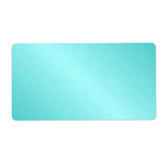 D1 Bi-Linear Gradient - Turquoise and Light Cyan Label
